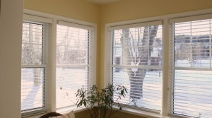 2 Faux Wood Blinds